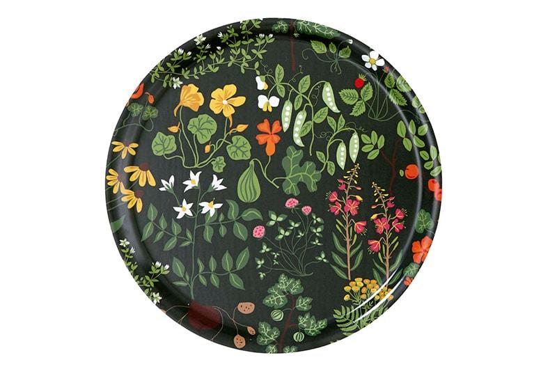 décoration plateau rond motifs fleuris klippan suède maison nordik paris