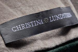 Coussin Velvet Stripes en Velours Christina Lundsteen Danemark maison nordik paris