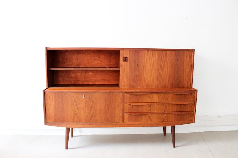danish modern vintage teck palissandre rio années 50 années 60 années 70 mobilier ancien danois scandinave meubles design designer enfilade buffet bahut