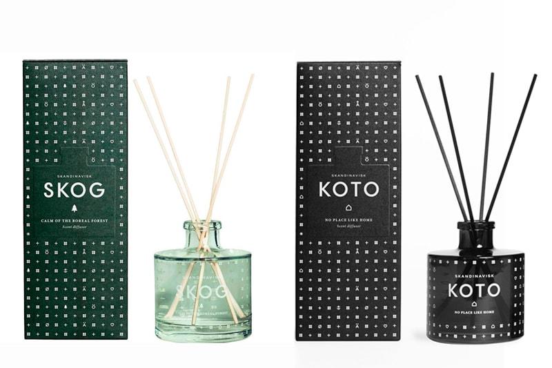 diffuseur parfumé skandinavisk skog koto maison nordik paris senteur cire