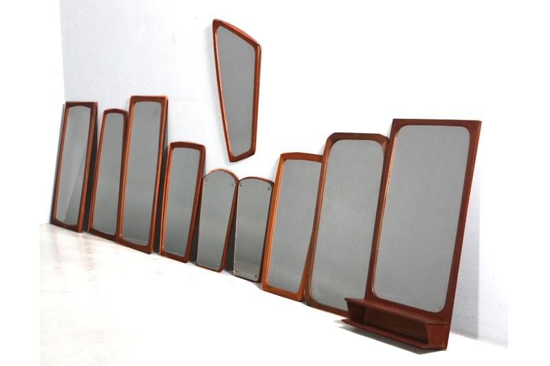 miroirs contours teck palissandre de rio maison nordik danemark ancien vintage