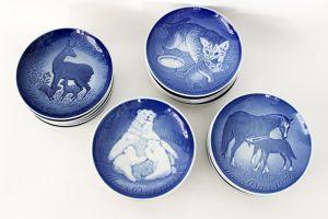 Assiettes en porcelaine fêtes des mères Bing & Gröndahl B&G Danemark maison nordik Paris