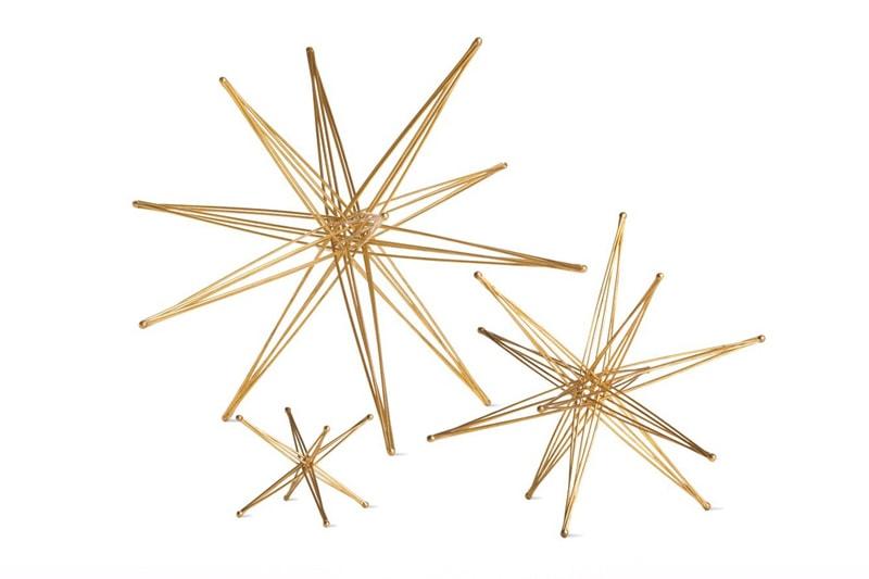 décoration étoiles bronze john kosticks usa maison nordik paris