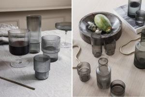 verres soufflés ferm living ripple glass danemark décoration maison nordik paris