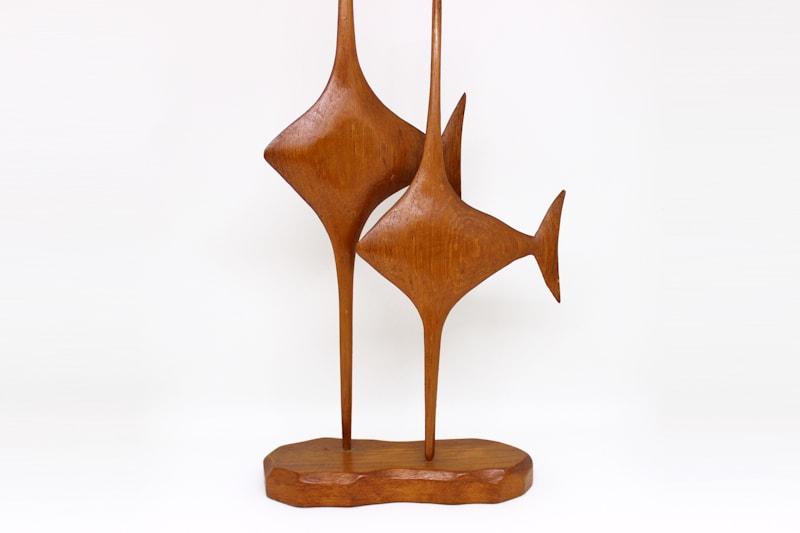 danish modern vintage teck palissandre rio années 50 années 60 années 70 mobilier ancien danois danemark scandinave maison nordik paris meubles design figurine sculpture bois poissons décoration