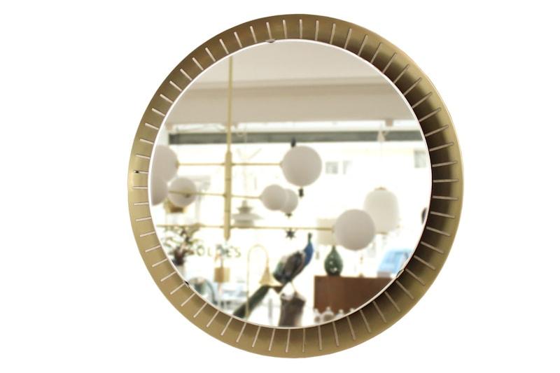 danish modern vintage teck palissandre rio années 50 années 60 années 70 mobilier ancien danois danemark scandinave maison nordik paris meubles design designer décoration miroir rond stilnovo italie rétroéclairé
