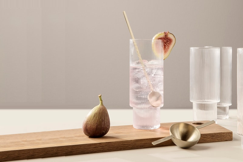 verres soufflés ferm living ripple glass danemark décoration maison nordik paris