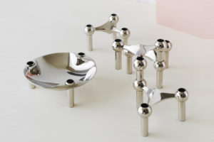 Bougeoir bowl bougie argenté doré pack 3 Werner Stoff Design Hans Nagel maison nordik paris