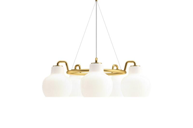 luminaire suspension lumière lampe lampadaire vilhelm lauritzen vl ring crown 3 abat jour 5 abat jour 7 abat jour louis poulsen danemark design maison nordik paris