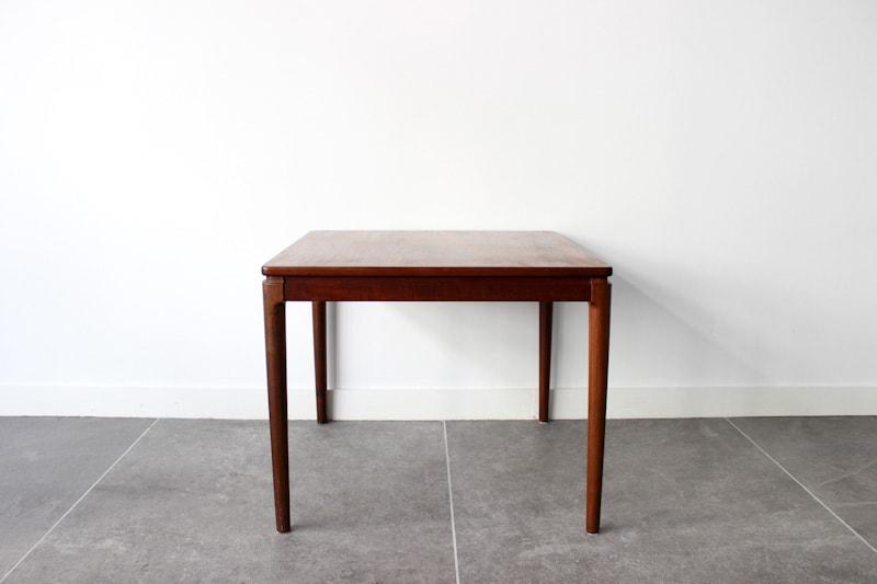 danish modern mid century vintage teck palissandre rio années 50 années 60 années 70 mobilier meuble ancien danois danemark scandinave maison nordik paris meubles décoration design designer table basse carrée