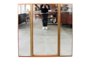 danish modern mid century vintage teck palissandre rio années 50 années 60 années 70 mobilier meuble ancien danois danemark scandinave maison nordik paris meubles décoration design editeur designer miroir triptyque contour teck miroir glace