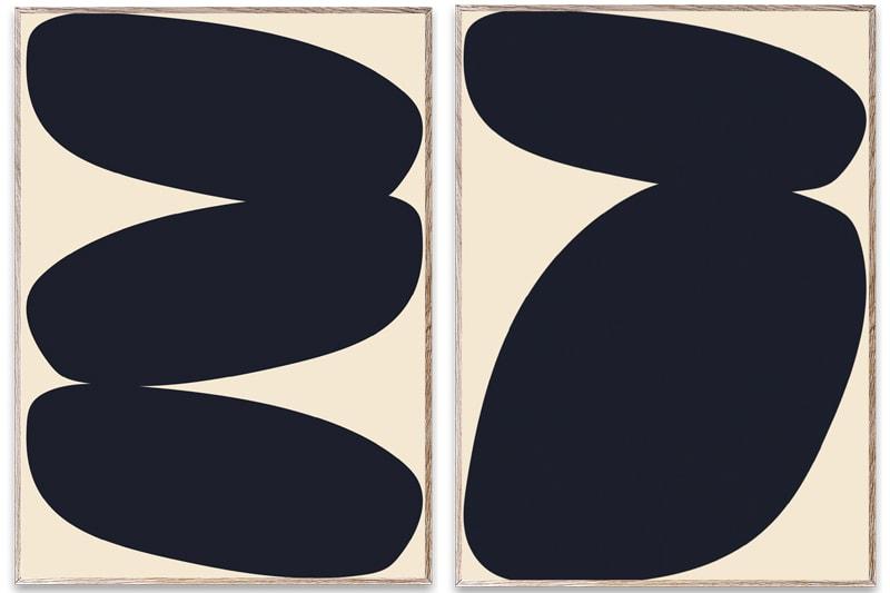 danish modern vintage teck palissandre rio années 50 années 60 années 70 mobilier meuble ancien danois danemark scandinave maison nordik paris meubles décoration design designer éditeur poster sous cadre art sérigraphie paper collective ane bruun solid shapes 1 solid shapes 2 solid shapes 3