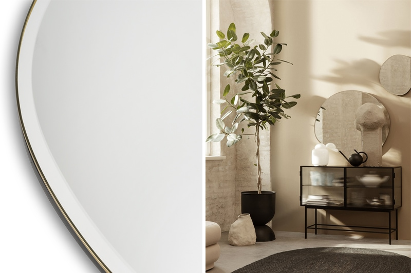 danish modern mid century vintage teck palissandre rio années 50 années 60 années 70 mobilier meuble ancien danois danemark scandinave maison nordik paris meubles décoration design designer editeur ferm living miroir pond small large XL