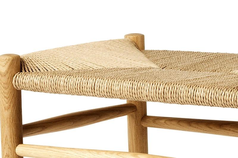 danish modern mid century vintage teck palissandre rio années 50 années 60 années 70 mobilier meuble ancien danois danemark scandinave maison nordik paris meubles décoration design editeur fdb designer Jørgen Bækmark repose pieds modèle J83 assise s'assoir siège chaise fauteuil