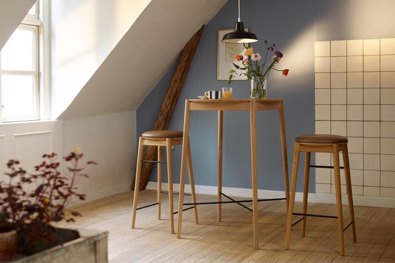 danish modern mid century vintage teck palissandre rio années 50 années 60 années 70 mobilier meuble ancien danois danemark scandinave maison nordik paris meubles décoration design editeur fdb designer Stine Lundgaard Weigelt tabouret de bar modèle J168 assise s'assoir siège chaise fauteuil