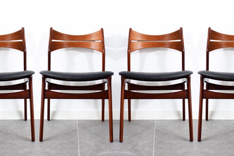 danish modern mid century vintage teck palissandre rio années 50 années 60 années 70 mobilier meuble ancien danois danemark scandinave maison nordik paris meubles décoration design editeur designer erik buch chaise de table en teck années 60 siège fauteuil s'assoir chaise assise