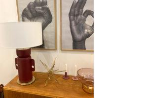danish modern mid century vintage teck palissandre rio années 50 années 60 années 70 mobilier meuble ancien danois danemark scandinave maison nordik paris meubles décoration design editeur designer aromas del campo lampe de table en céramique modèle ena référence nac121 lumière lampe éclairage lampe à poser lumière