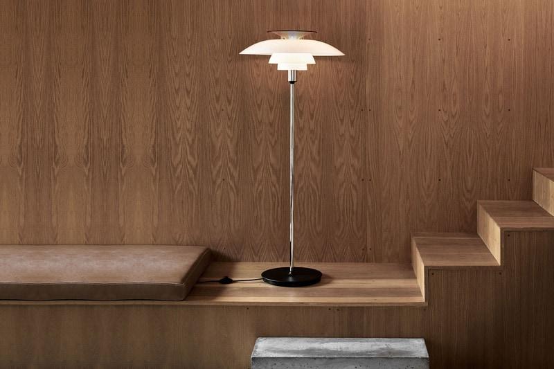 danish modern vintage teck palissandre rio années 50 années 60 années 70 mobilier ancien danois danemark scandinave maison nordik paris meubles design designer poul henningsen fabricant éditeur marque louis poulsen lampadaire modèle ph 80 lumière lampe suspension éclairage