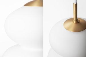 danish modern mid century vintage teck palissandre rio années 50 années 60 années 70 mobilier meuble ancien danois danemark scandinave maison nordik paris meubles décoration design editeur lyfa designer bent karlby suspension modèle peanut en verre opalisé et laiton lampe luminaire éclairage