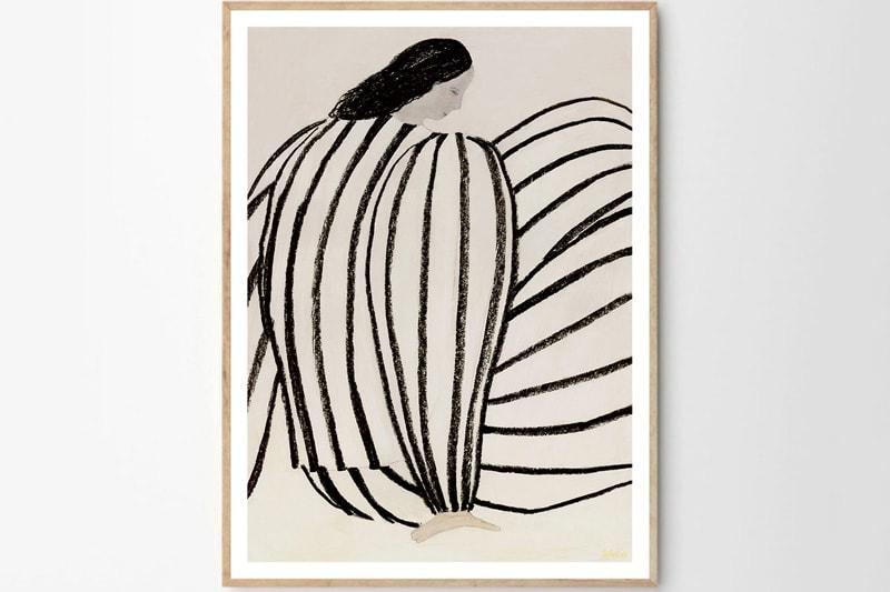danish modern vintage teck palissandre rio années 50 années 60 années 70 mobilier meuble ancien danois danemark scandinave maison nordik paris meubles décoration design designer éditeur poster sous cadre art sérigraphie poster club sofia lind poster you still waiting