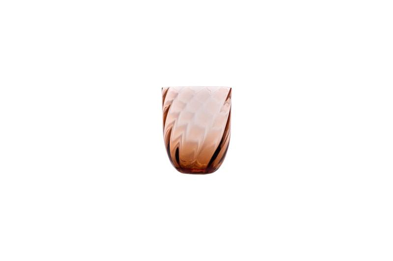 danish modern mid century vintage mobilier en teck palissandre rio années 50 années 60 années 70 mobilier meuble ancien danois danemark scandinave maison nordik paris meubles décoration design nordique éditeur marque designer anna von lipa vase en verre modèle swirl tumbler