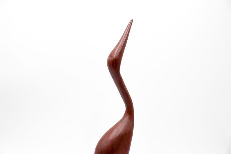 danish modern mid century vintage teck palissandre rio années 50 années 60 années 70 mobilier meuble ancien danois danemark scandinave maison nordik paris meubles décoration design editeur designer héron en bois figurine en teck décoration